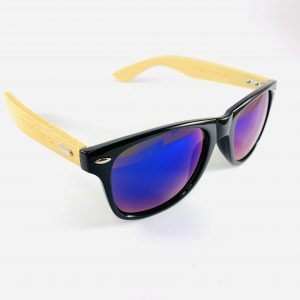 Strandbrillor Woodie-Black Blue