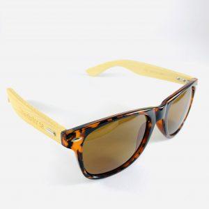 Strandbrillor Woodie-Leopard